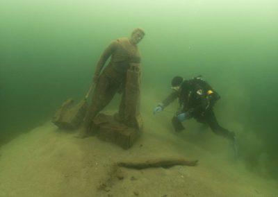 Réparation statue Duzillet Stéphane, Florian