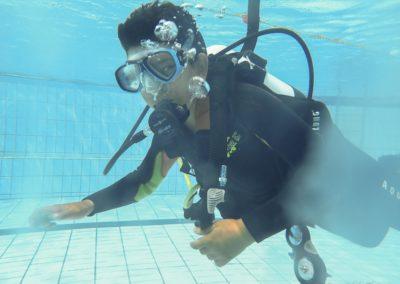 Baptême piscine + leçon 1 Mohamed